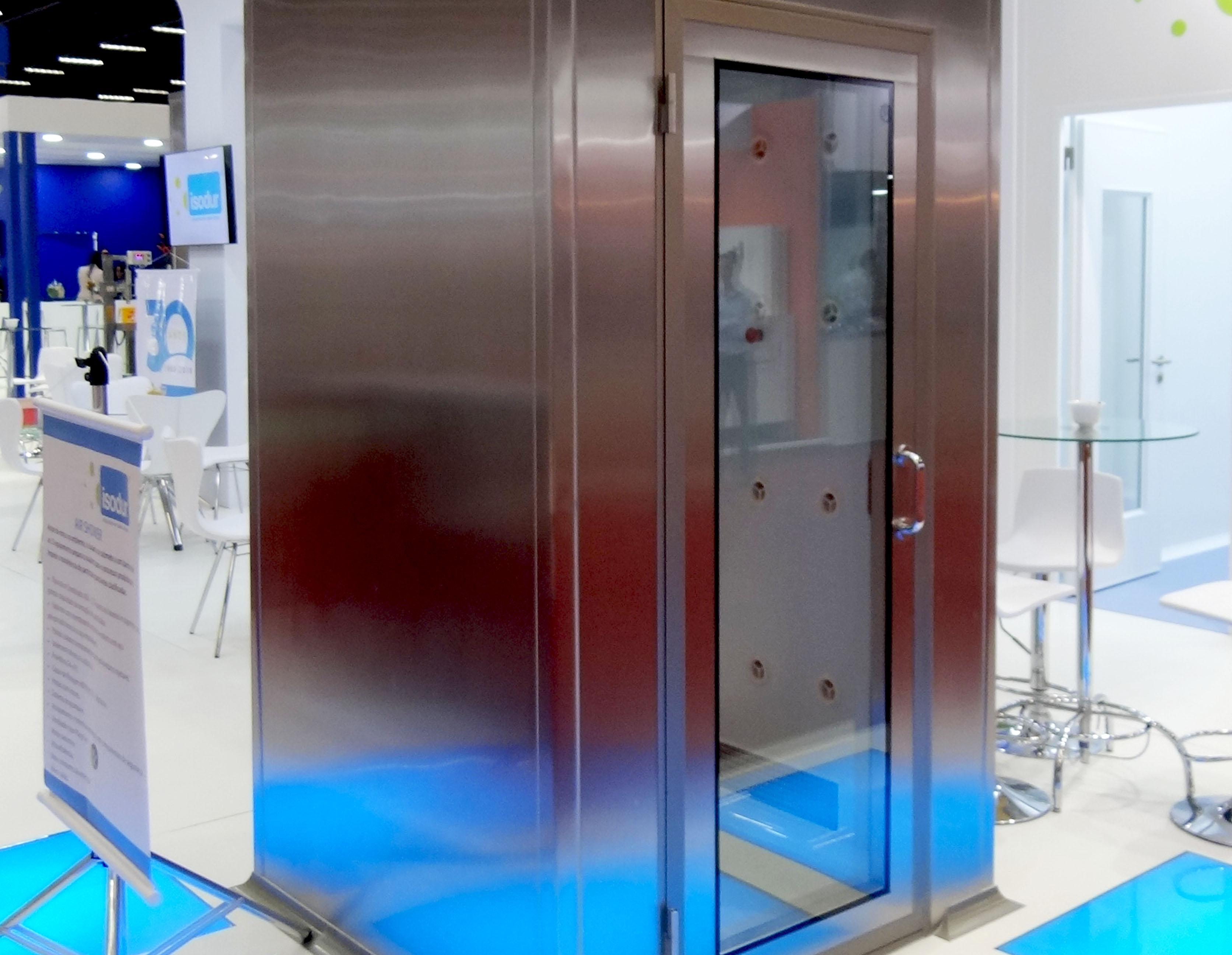 air shower inox isodur